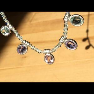 Swarovski Necklace & Earrings Pastel Matte